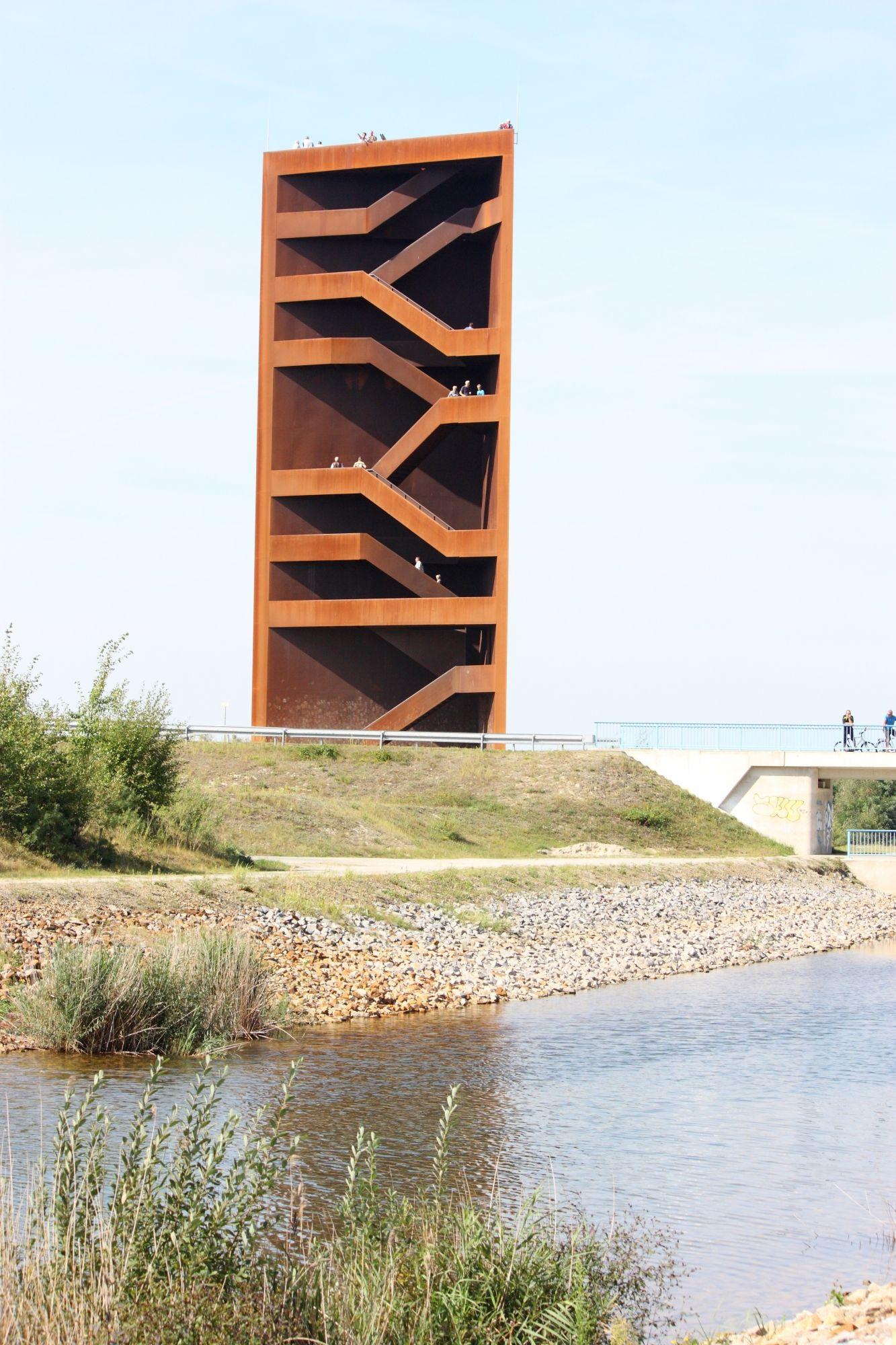 Blick vom Sornoer Kanal, IBA Landmarke \