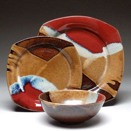 Handmade pottery dinnerware by Mangum Pottery | Pottery ...