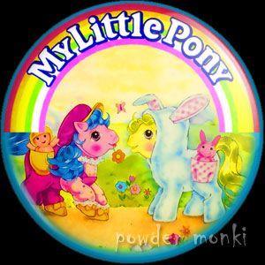 Retro Toy Badge/Magnet - My Little Pony Y4 Baby Pony Wear www.powdermonki.co.uk
