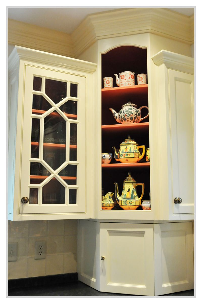 Charmant Fretwork Cabinet With Wavy Glass