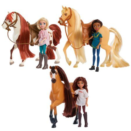 Dreamworks Spirit Riding Free Lucky and Spirit Doll and Horse Set
