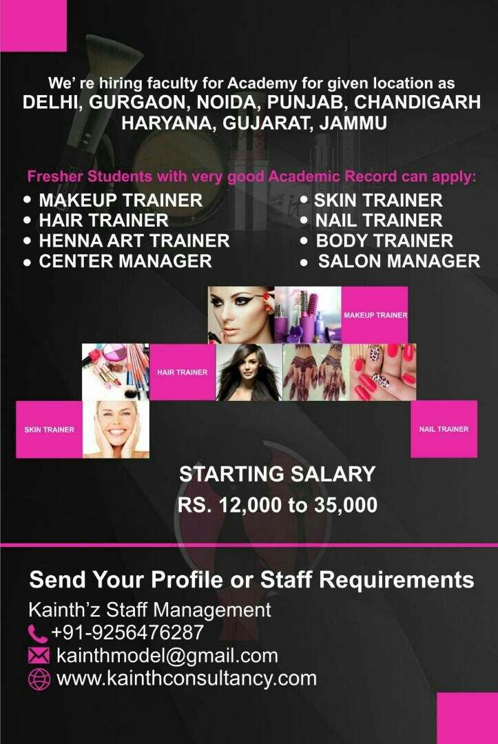 we u0026 39 re hiring staff for salon  u0026 academy in north india  if