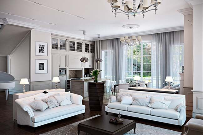 Classic Living Room Design White Classic Living Room Design  Interior Design Classic And