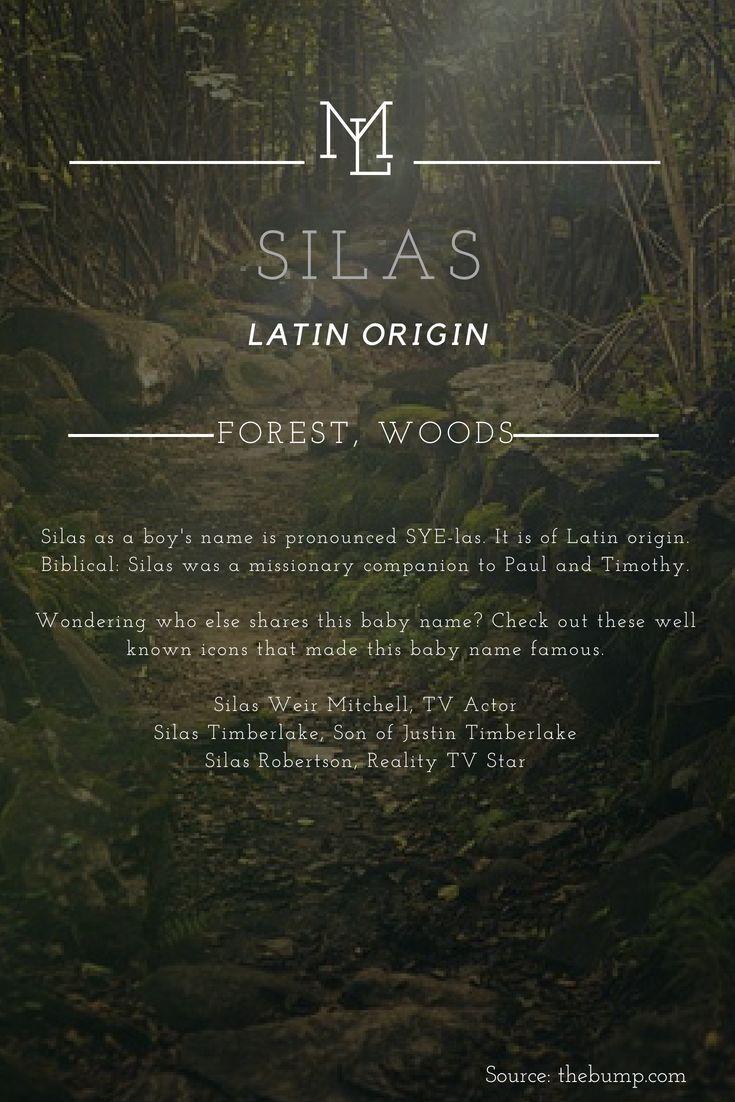 Charakternamen: Silas lateinischen Ursprungs mit der Bedeutung Forest, Woods   - I Love them all !!!!! - #Bedeutung #Charakternamen #der #lateinischen #love #mit #quotForest #Silas #Ursprungs #Woodsquot #babynamesboy