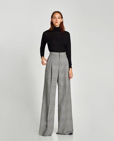 pantalones anchos zara rebajas
