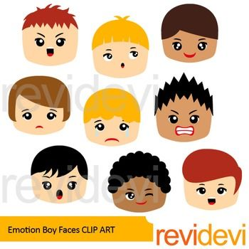 feeling and emotion clip art boy faces face expressions rh pinterest co uk emotions clip art images emotions clip art for kids