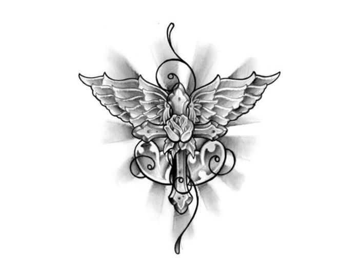 Bing feminine cross tattoos possibilities for Small feminine cross tattoos
