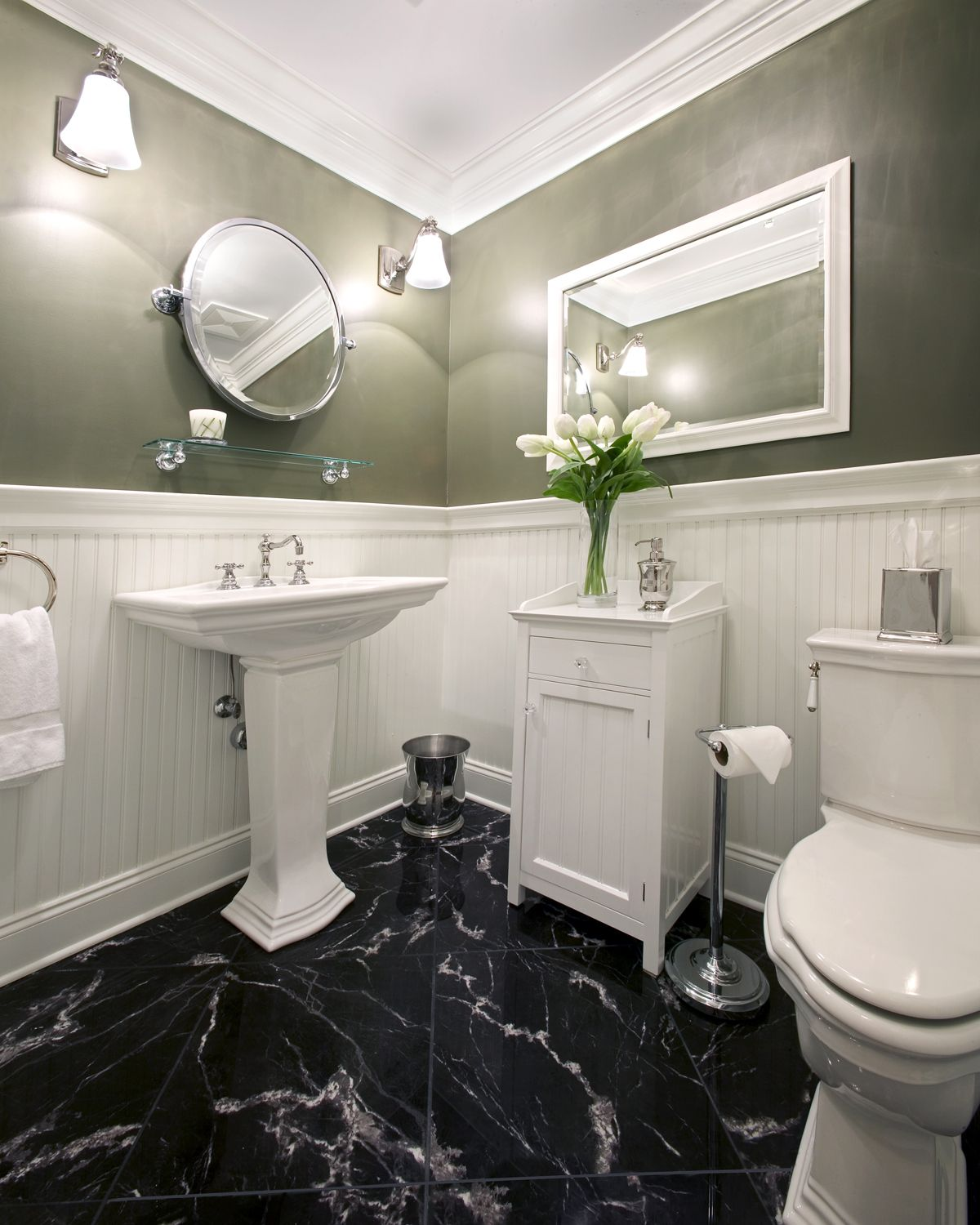 Black Marble Floor White Marble Bathrooms Marble Bathroom Floor