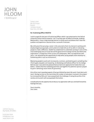 Free Cover Letter Templates By HloomCom  Descargar Curriculum