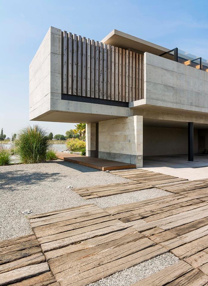 Pin de przemys aw gwizda a en architecture arquitectura for Casa minimalista uy