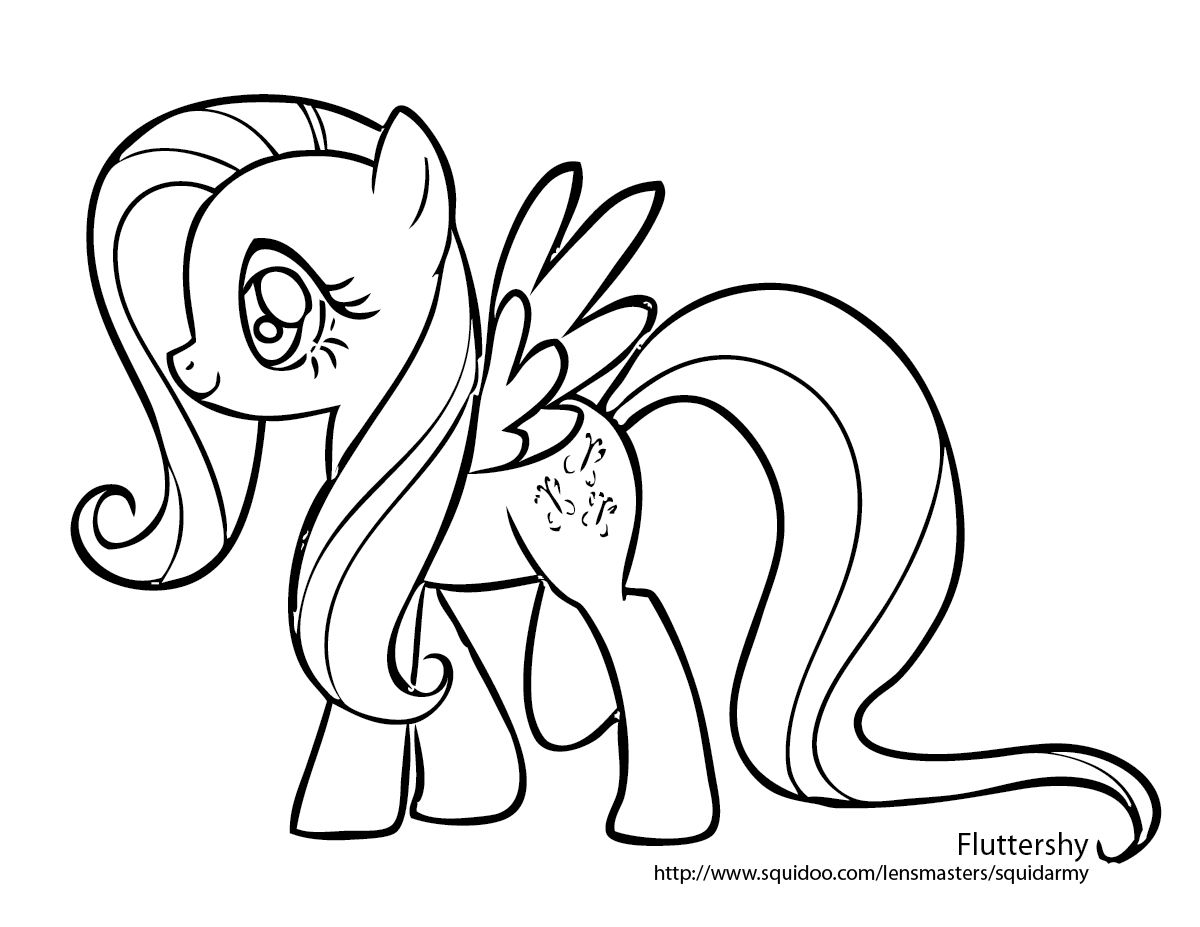 Young my little pony coloring pages