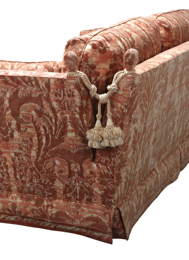 Pair Of Sofas In Fortuny Fabric Shipping Included 1stdibs Com Fortuny Fabric Fortuny Interiors Furniture Design Inspiration