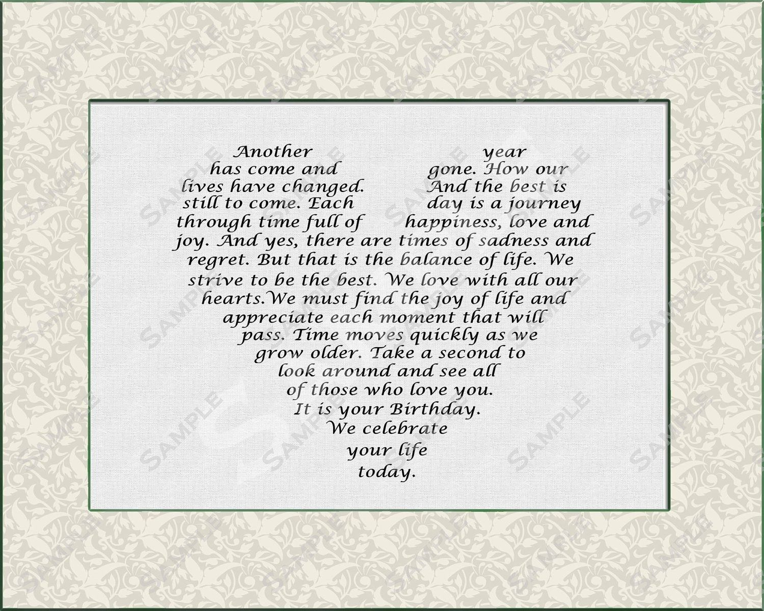 Quotes 75Th Birthday Personalized Poem Birthday Gift Digitalqueenofheartgifts