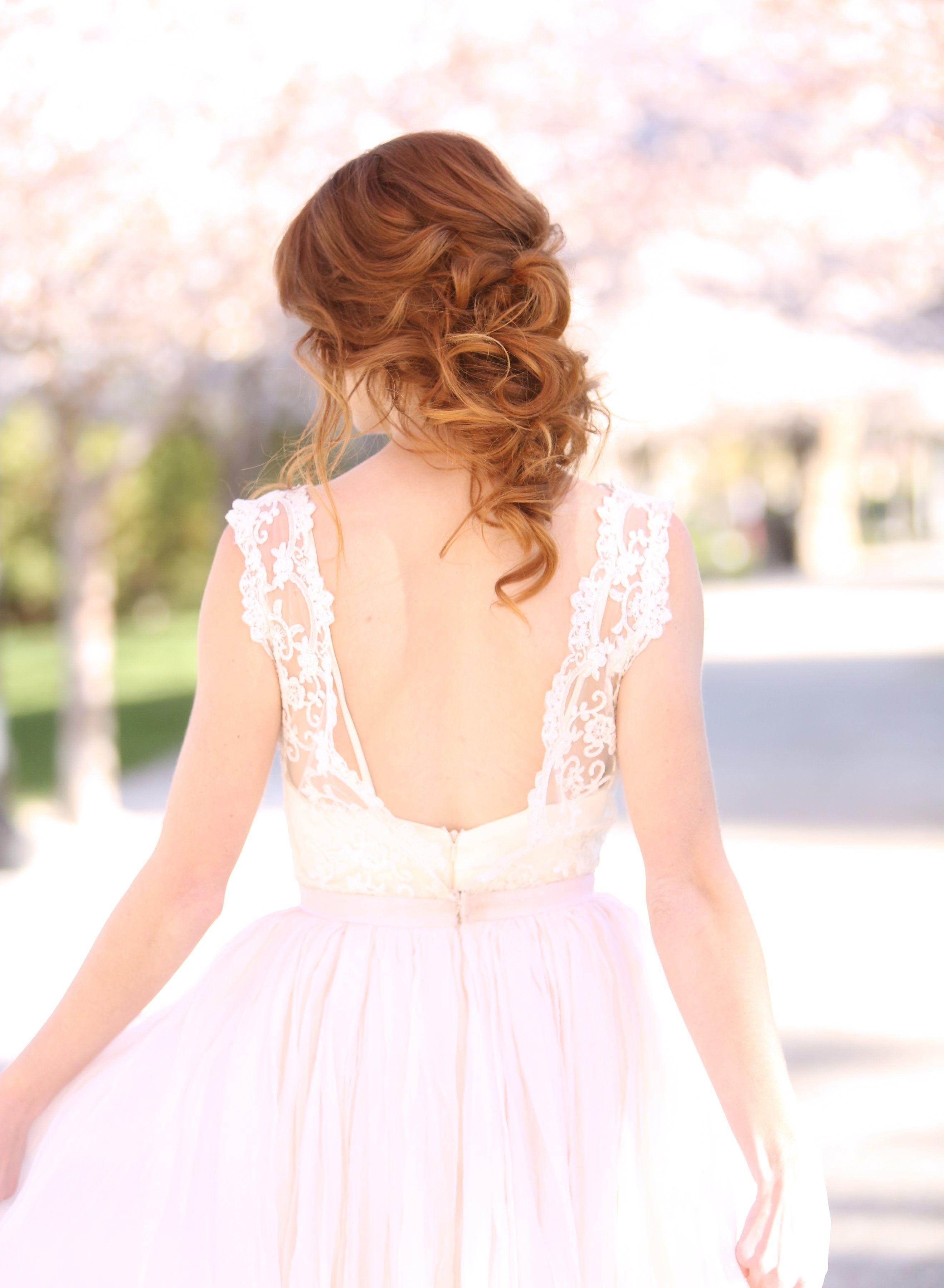 bride updo