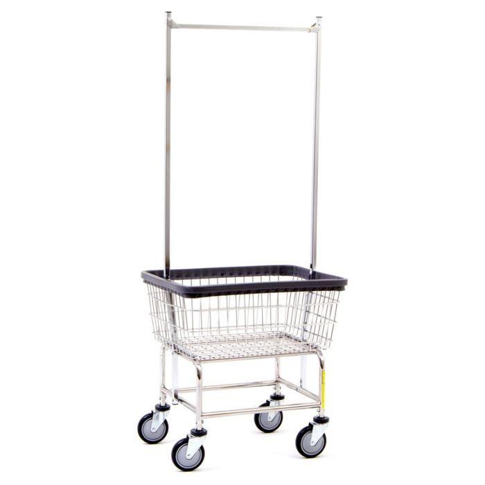 Standard Laundry Cart W Double Pole Rack Laundry Cart Laundry