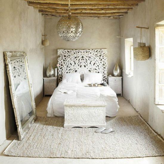 de moderne marokkaanse stijl is licht en wit. met sfeervolle, Deco ideeën