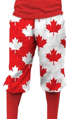 658f37ddb Loudmouth Golf Mens Golf Knickers - Canada Maple Leaf. Buy it    ReadyGolf.com