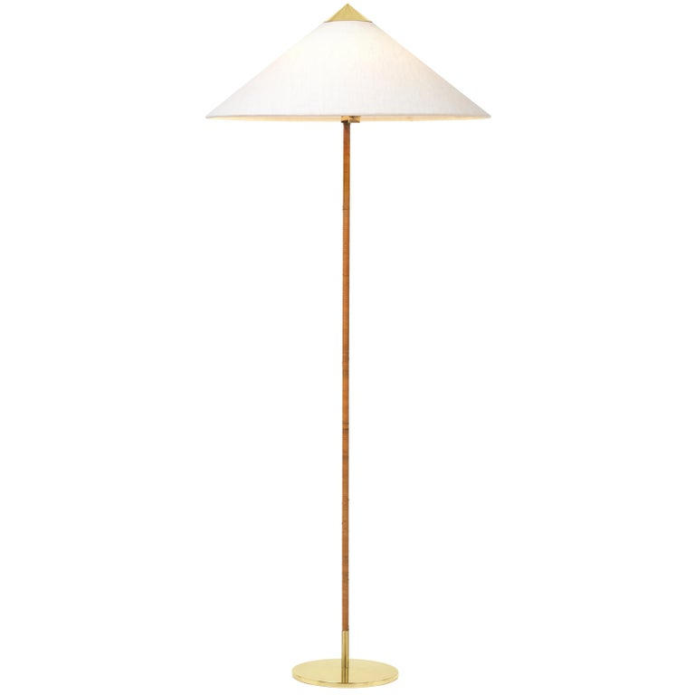 Paavo Tynell Model 9602 Brass And Rattan Floor Lamp Floor Lamp Rattan Floor Lamp Lamp
