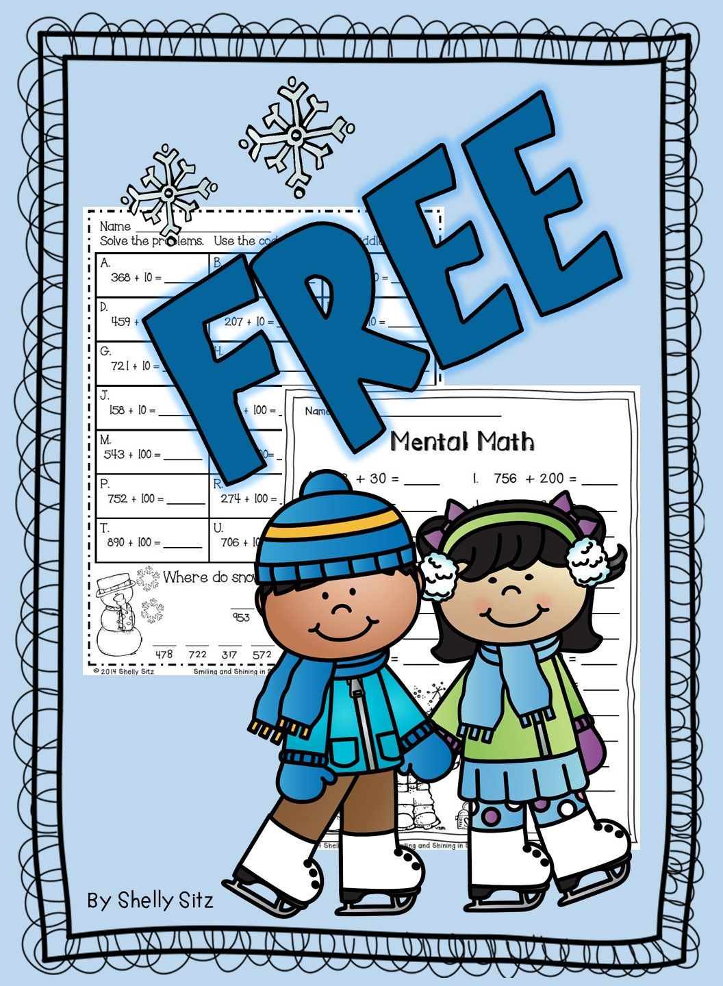 Mental math for second grade--FREE math--10 more, 10 less, 100 more ...