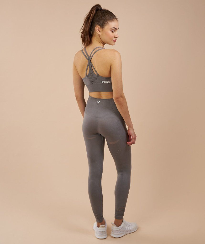 36322d24dd19da Gymshark High Waisted Seamless Leggings - Slate Grey Marl