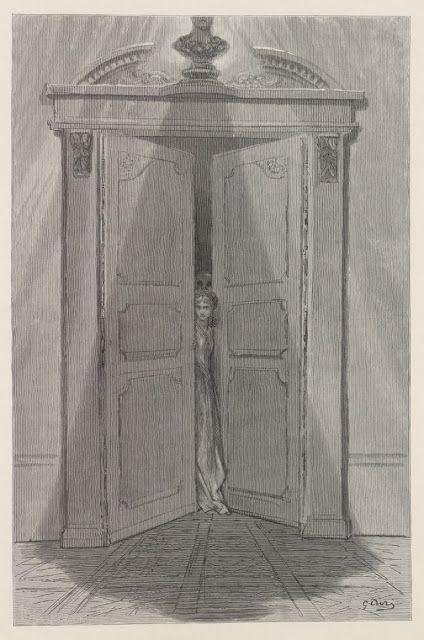 gustave dor u00e9  1832-1883   illustration pour  u0026quot the raven u0026quot  d u0026 39 edgar allan poe