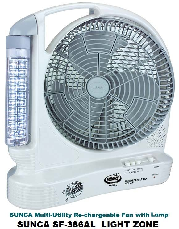 Emergency Rechargeable Light Sunca Rechargeable Fan With