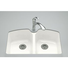 Kohler Tanager 22 In X 33 In White Double Basin Cast Iron
