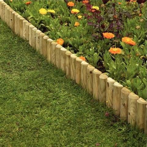 Gardens fencing garden edgings log rolls border edging for Log garden edging