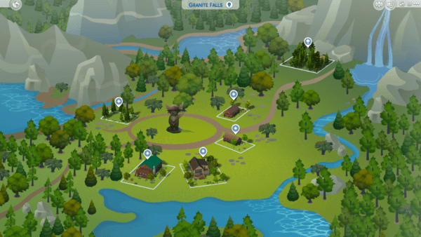 The Sims 4 Worlds Archives The Sims Fan Page In 2020 Outdoor Retreat Scout Camping Granite Falls