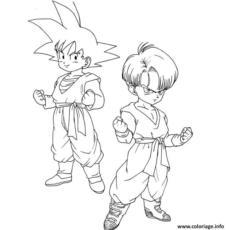 Coloriage Son Goten Trunks Dragon Ball Z 6 A Imprimer Coloriage Dragon Ball Z Dessin De Dragon Coloriage Dragon