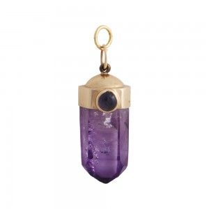 Talk about a #PowerPendant, wear this lovely Contemporary Amethyst Amulet to bring calm, balance, and peace to your life. #Amethyst #Quartz #Amulet