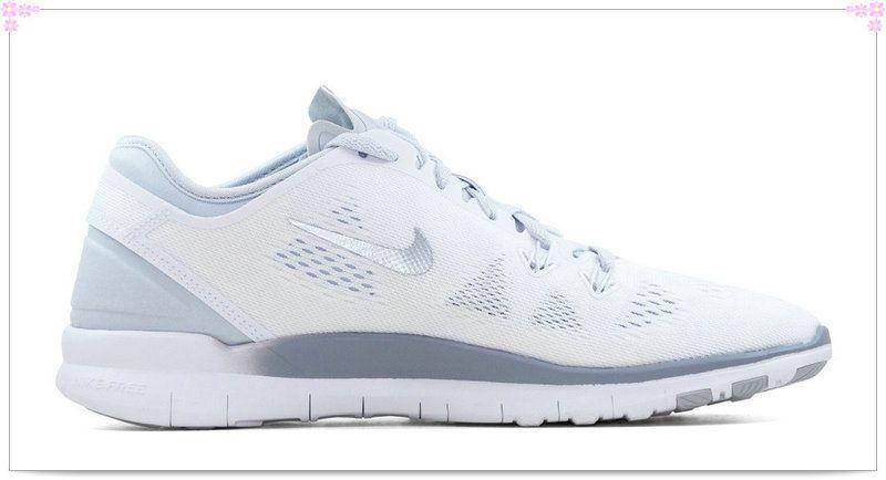 Over Discount Off Popular 2017 Fashion glitter kicks Nike Free Run TR Fit 5  Crystallized Swarovski Swoosh White Grey d992f7415