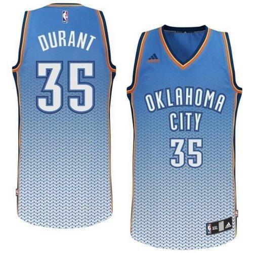 Thunder #35 Kevin Durant Blue Resonate Fashion Swingman