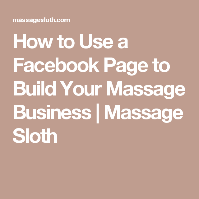 Massage on facebook
