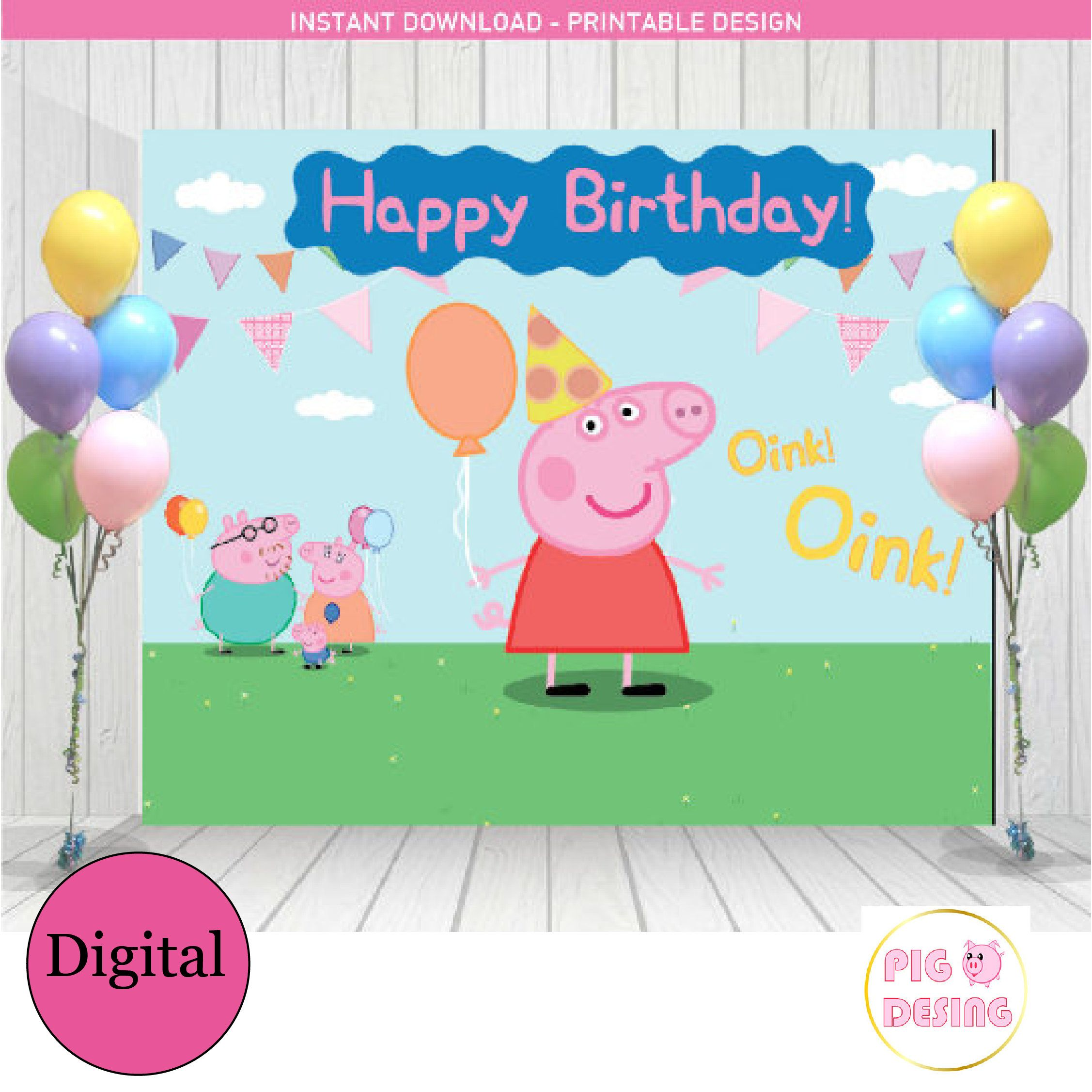 Pin On Peppa Pig Happy Birthday