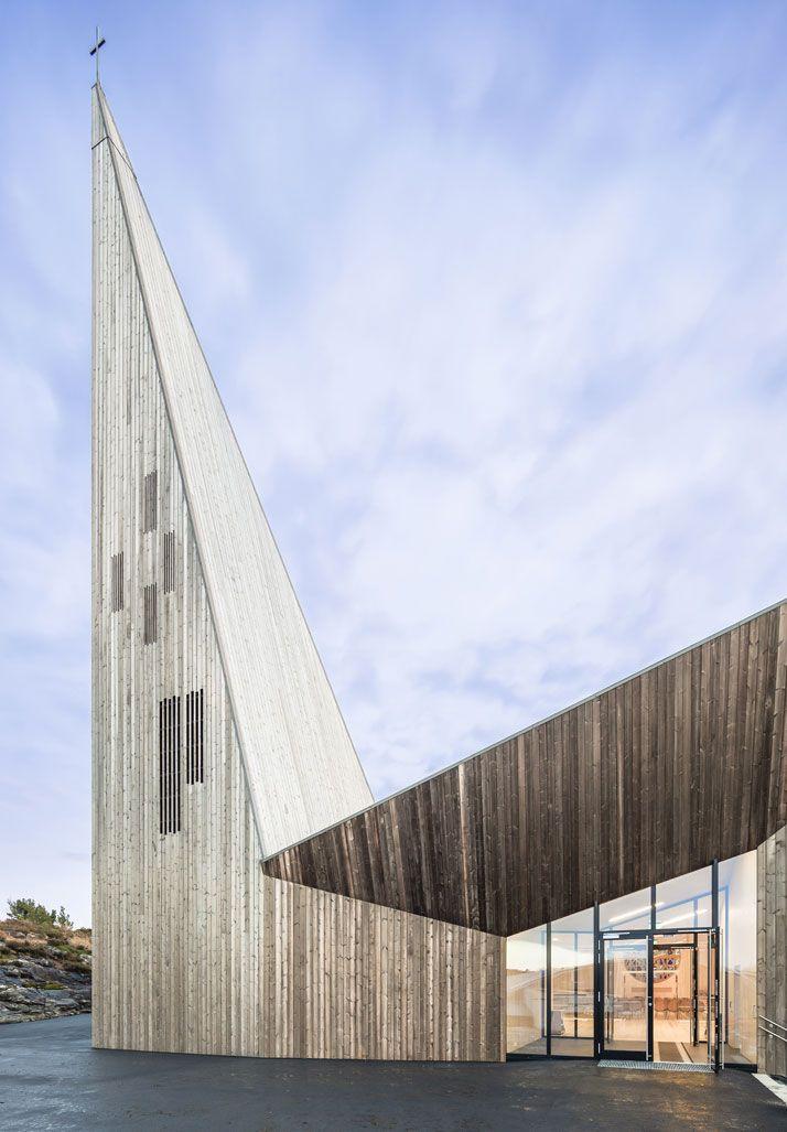 Knarvik Church, a Futuristic Interpretation of the Traditional Norwegian Stave Church   Yatzer
