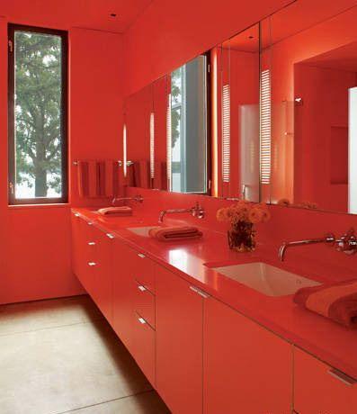 All Red Bathroom Bathroom Red Modern Luxury Bathroom Luxury Bathroom