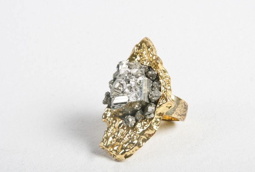 Chunky, funky: Pyrite ring from Oak.