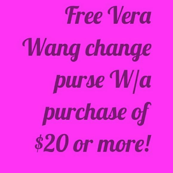 **FREE** Vera Wang princess change purse Purple Vera Wang princess change first free with any purchase of $20 or more to the next customer! HURRY get yours now Vera Wang Bags Clutches & Wristlets
