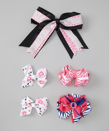 Take a look at this Pink Diva Bow Clip Set by Chicky Kids by Chicky Chicky Bling Bling on #zulily today!