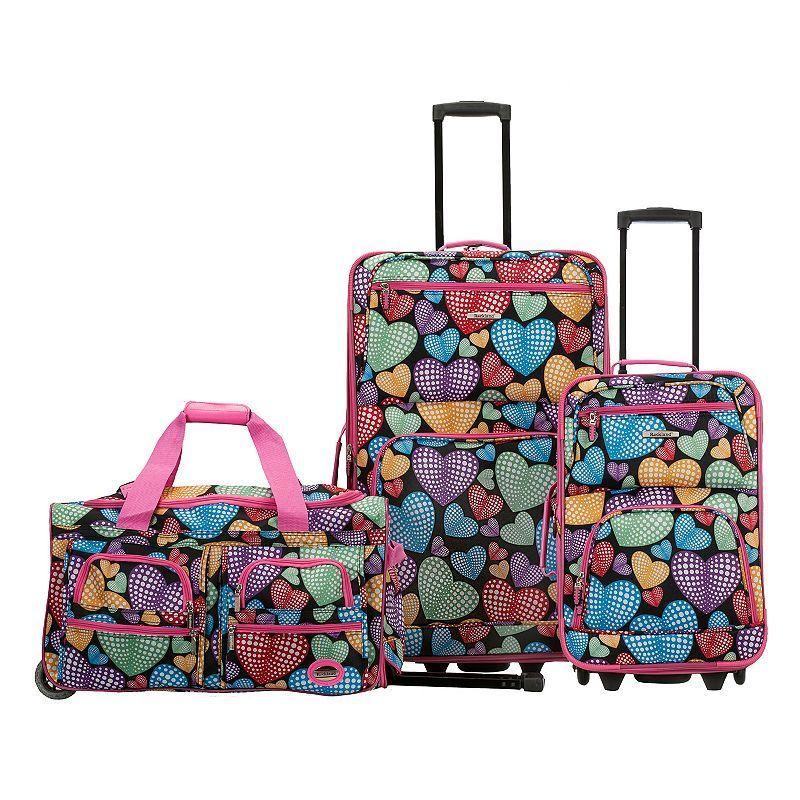 f577e35bfbd7 Rockland 3-Piece Wheeled Luggage Set