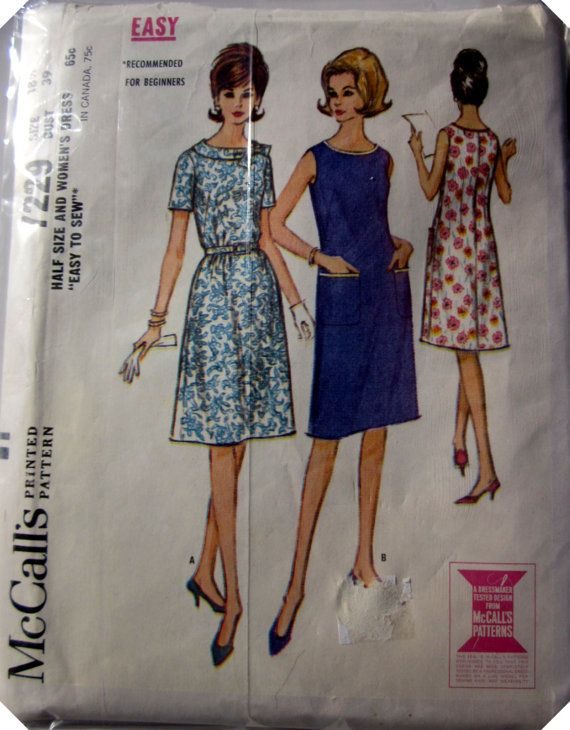 Mccalls 7229 French Dress 1960s Vintage Pattern French Dress