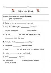 fill in the blank printable dr seuss pinterest activities