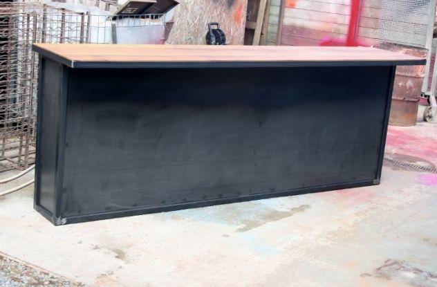 comptoir bar sur mesure industriel projet m pinterest bar. Black Bedroom Furniture Sets. Home Design Ideas