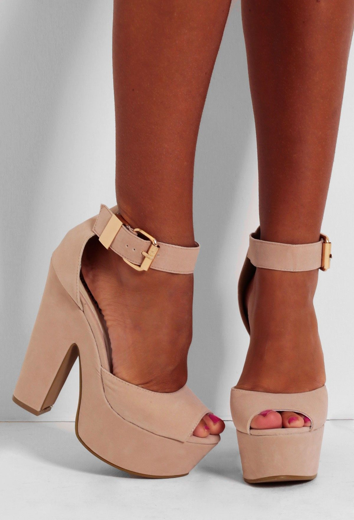 Channel your inner fashionista with these gorgeously girly platforms!  Shop now  www.pinkboutique.co.uk/shoes/frappuccino-nude-suede-effect-platform-shoes.html