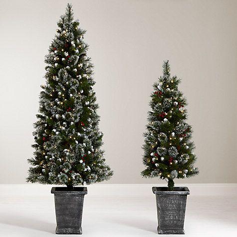 Buy John Lewis Chamonix 4.5ft Pre-Lit Potted Christmas Tree Online at  johnlewis.com - Buy John Lewis Chamonix 4.5ft Pre-Lit Potted Christmas Tree Online