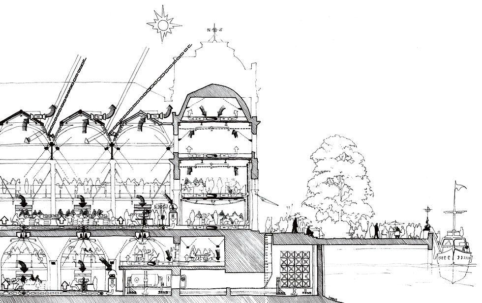 Richard Rogers - Billingsgate Market | ARCH | SECTION ...
