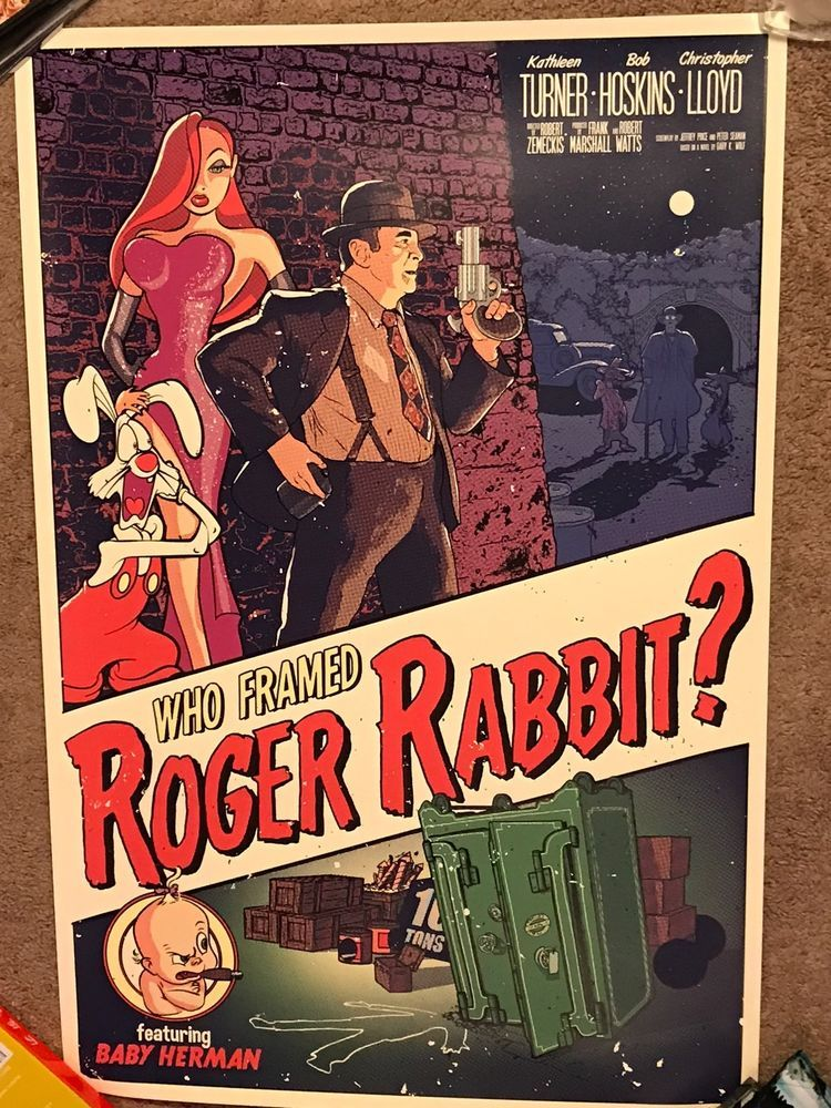 Disney Tim Anderson Who Framed Roger Rabbit Jessica Mondo Art Print ...
