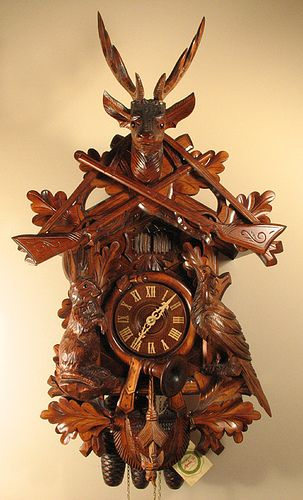 8396 cuckoo clock by rombach und haas coucou pendule et allemagne. Black Bedroom Furniture Sets. Home Design Ideas