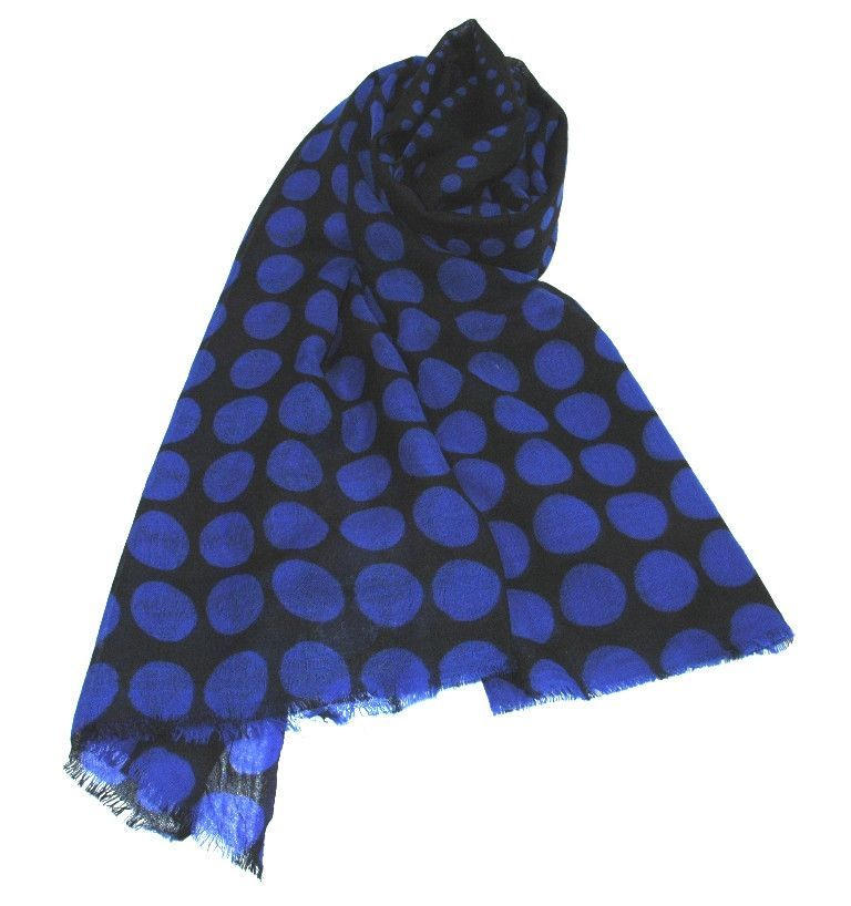 Fine Wool Wrap Polka Dot